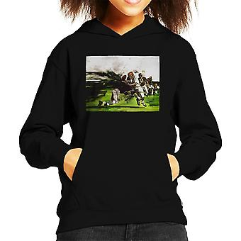 The Saturday Evening Post American Football Tackle Kid's Hooded Sweatshirt
