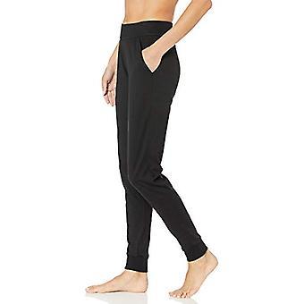 Marke - Mae Women's Cotton Modal Miwi Jogger Lounge Hose, schwarz, X-Small