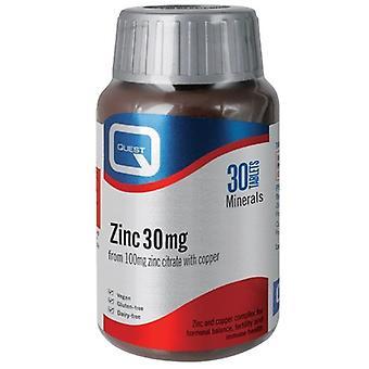 Quest Vitamins Zinc Citrate Tablets 30 (601393)