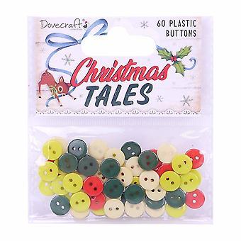 Dovecraft Christmas Tales Kunststoff Knöpfe (60pcs) (DCBTN034X19)