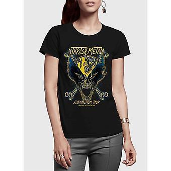 Wolverine adamantium half sleeves women t-shirt
