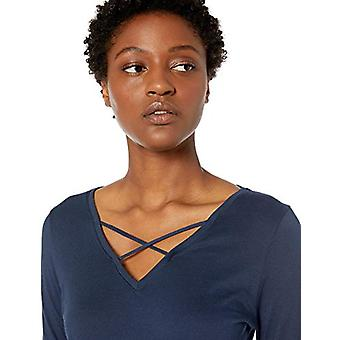 Marque - Mae Women's Cotton Modal Opli Lounge T-Shirt, Navy, Medium