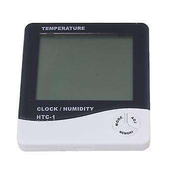 HTC-1 Digital elektronisk termometer Hygrometer med klocka