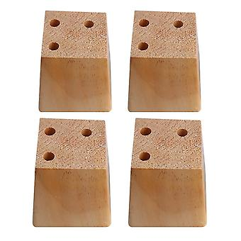 4pcs Wood Trapezoid Furniture Foot Leg Feet 7.5*6*8cm