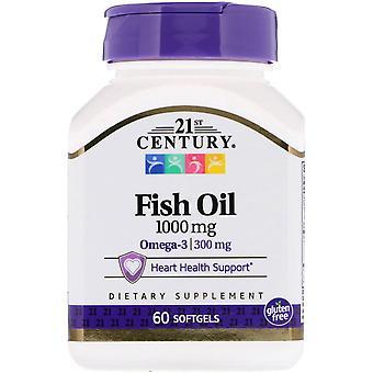 21ème siècle, Huile de poisson, 1000 mg, 60 Softgels