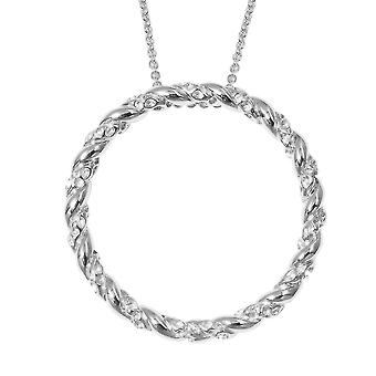 """TJC Circle of Life Chain Pendant Necklace for Women Sterling Silver Size 30"""""""