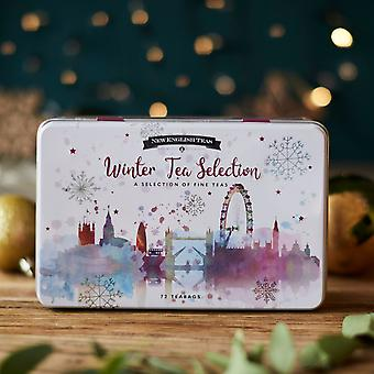 Winter wonderland christmas tea tin 72 teabag selection