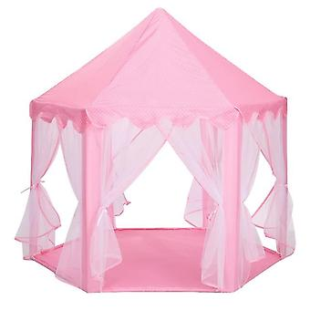 Baby Portable Folding Prince Princess Tent Castle Play House Kid Outdoor Beach