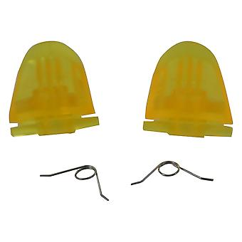 Trigger button & spring set for sony ps4 controller l2 r2 replacement - transparent yellow | zedlabz