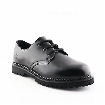 Grinders Unisex Percival Cs Black Leather Gibson Shoes