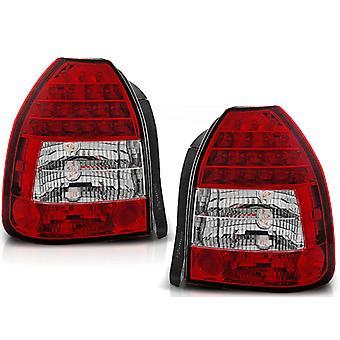 FANALINI HONDA CIVIC 09 95-02 01 3D ROSSO BRILLANTE LED