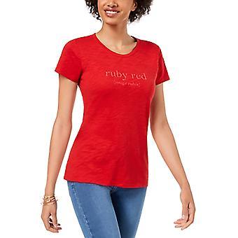Maison Jules | Graafinen T-paita Lyhythihainen Jalokivi Kaula-aukko Toppi