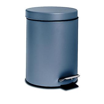 3 Litre Bathroom Pedal Bin With Inner Bucket - Matte Blue