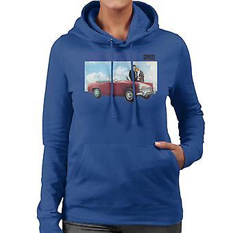 Austin Healey Sprite Mark IV Admired By Couple British Motor Heritage Women's Hooded Sweatshirt
