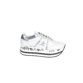 Premiata Beth4840 Women's White Leather Sneakers