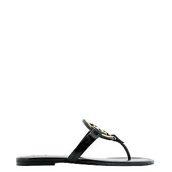 Tory Burch 47617013 Women's Black Leather Flip Flops