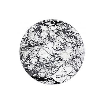 Modern rug COZY 8871 Circle, Marble - structural two levels of fleece grey
