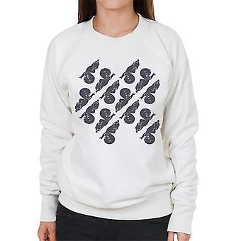 Casper The Friendly Ghost Flying Pattern Women's Sweatshirt
