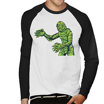 Creature From The Black Lagoon Side Monster Men's Baseball Long Sleeved T-Shirt