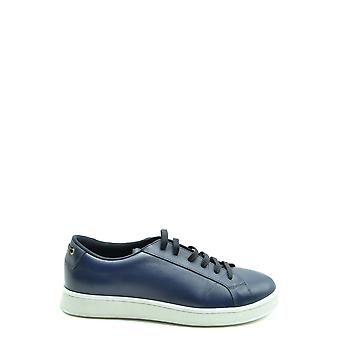 Car Shoe Ezbc029032 Men's Blue Leather Sneakers