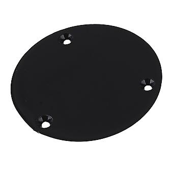 CIRCULAR BACK PLATE FOR ELECTRIC GUITAR BLACK COLOR