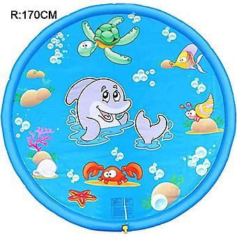 نفخ رذاذ المياه وسادة الصيف الاطفال تلعب المياه حصيرة العشب ألعاب- وسادة