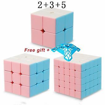 Uusin Macarons 2x2 3x3 4x4 5x5 Pyraminxed Magic Cube 3x3x3 Nopeuskuutio