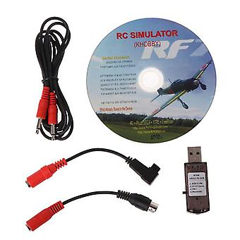 Rc Usb Flight Simulator With Cables For G7 Phoenix 5.0 Aerofly Xtr Vrc Fpv