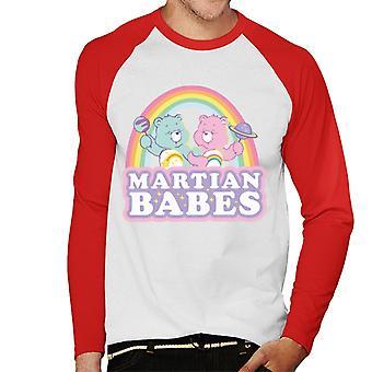 Omsorg Bjørner Cheer Bear Og Ønske Bjørn Martian Babes Menn's Baseball Langermet T-skjorte