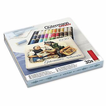 Gutermann Nostalgic '1930' Tin Set - Sew-All 100m Polyester Thread - 30 Colours
