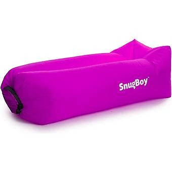 Snugboy - gonfiabile Air Bed Lounger Couch Sedia Sofa Bag - Viola