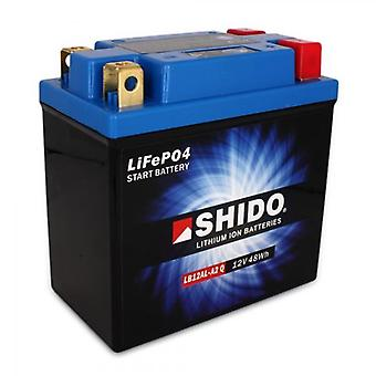 Shido Motorcycle Lithium Iron Battery LiFePO4 12V 4Ah 0 9kg 134x75x160mm