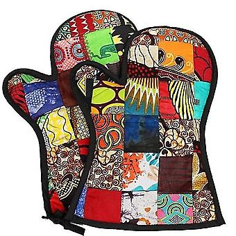 Patchwork Handcrafted Insulated Oven Gloves Kitenge Oven
