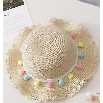 קיץ קש יופי פרחוני כובע, כובע שמש בייבי & שקית