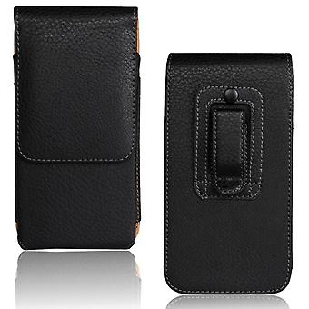 Universal Leather Phone Pouch For Xiaomi Redmi Cover Waist Holster Bag Belt