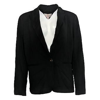 Laurie Felt Women's Suit Jacket/Blazer Knit Ponte Blazer Noir A346611