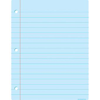"Smart Poly Big Light Blue Notebook Paper Chart, Dry-Erase Surface, 17"" X 22"""