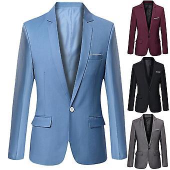 الرجال الأعمال Blazers الربيع الخريف أزياء معطف رسمي
