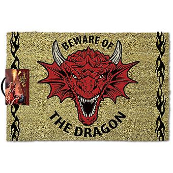 Anne Stokes Beware of the Dragon Door Mat