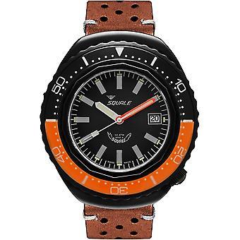 Squale 2002.PVD.BKO.BK.PTS 1000 Meter Swiss Automatic Dive Wristwatch Leather