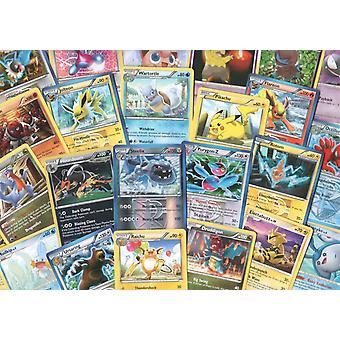 100 cartões pokemon variados com folhas e promo bônus!