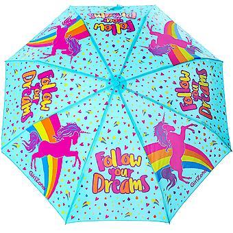 Girlzone: umbrella for kids colour changing unicorn kids umbrella