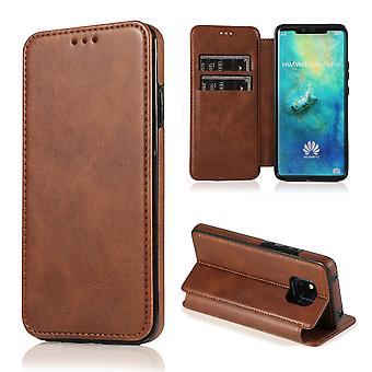 H-basics mobile phone case for Huawei Mate 20 Pro case case cover – magnetic clasp, stand function and card compartment