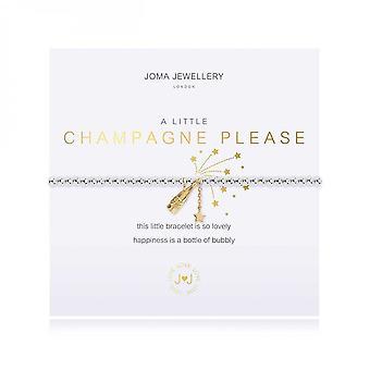 Joma Jewellery A Little Champagne Please Silver 17.5cm Stretch Bracelet 3799