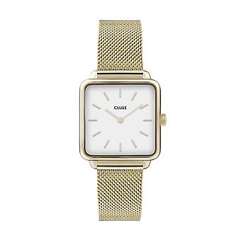 Cluse Ladies La Tetragone Gold Square Quartz Fashion Watch CW0101207002