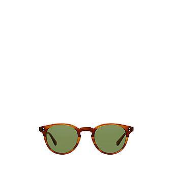 Garrett Leight CLEMENT SUN matte honey amber tort unisex sunglasses