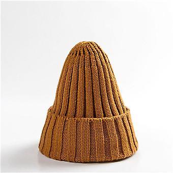 Téli kötött meleg puha divatos Kpop stílusú gyapjú sapkás elegáns all-match kalap
