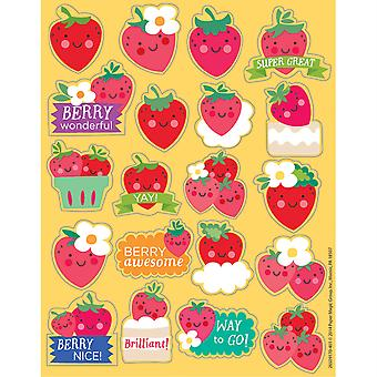 Pegatinas perfumadas de fresa, paquete de 80
