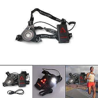 Extérieur LED Chest Light Night Running Warning Lights CHARGE USB pour camping randonnée en cours d'exécution