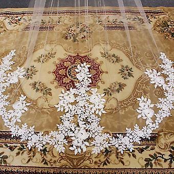 Elegant Lace Appliques, Wedding Veil With Comb